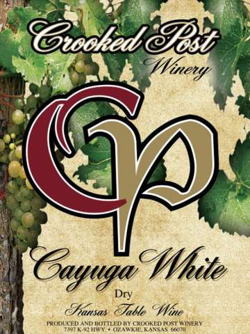 Cayuga White Dry Wine Label