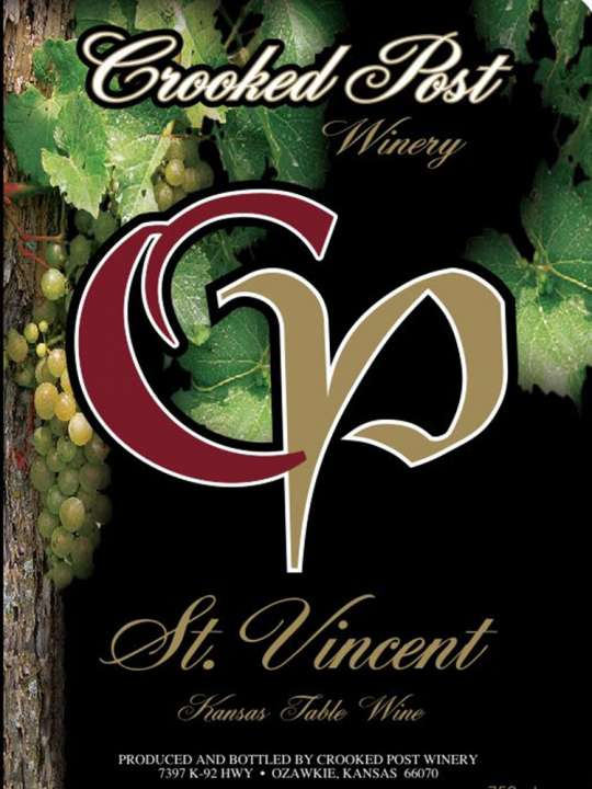 St. Vincent Wine Label