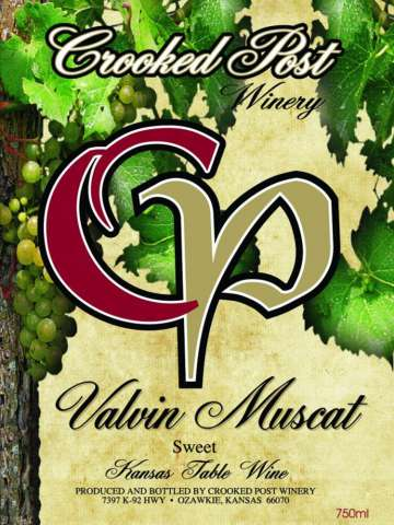 Valvin Muscat Wine Label