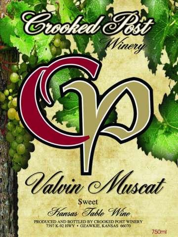 Valvin Muscat Wine Label