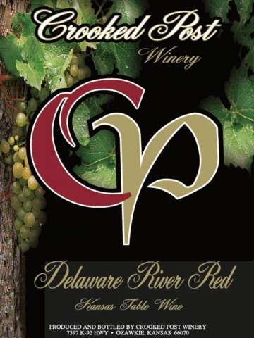 Delaware River Red Wine Label
