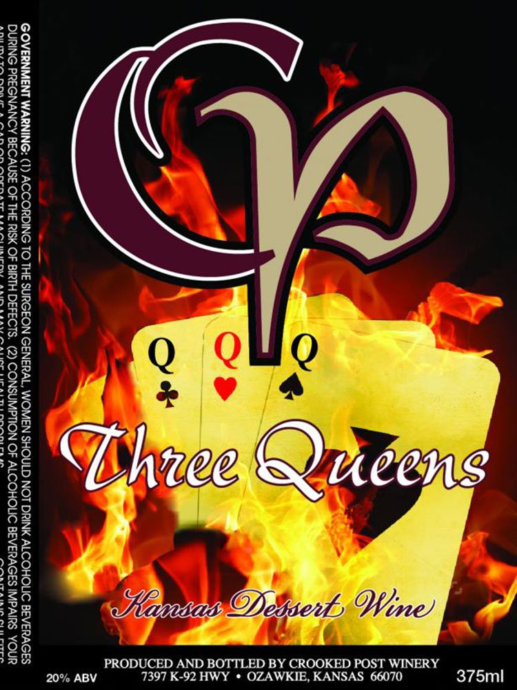 Three Queens Wine Label