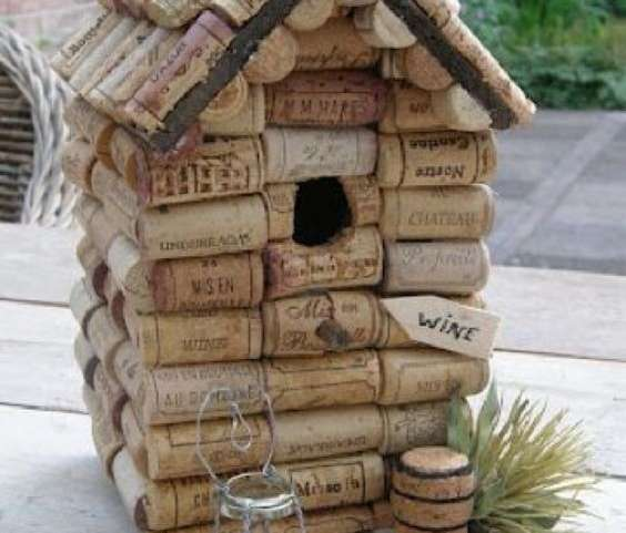 Cork Bird House building!